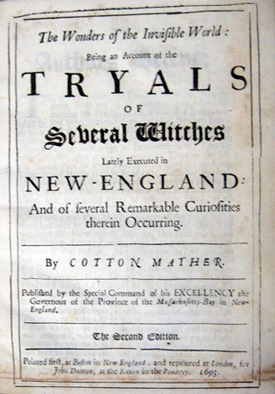 Salem Witch Trials Primary Source Documents